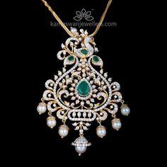 Diamond Pendant from Kameswari Jewellers