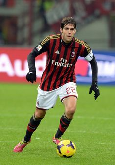 Kaká of AC Milan in action during the Serie A match between AC Milan and Genoa CFC at Stadio Giuseppe Meazza on November 23, 2013 in Milan, Italy.