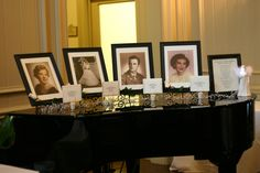 Wedding Idea:  A photo table in memory of those so dear to bride and groom's heart who could not attend their special day.  Also a framed special poem written about wishing they were there other than in spirit.  So sweet!