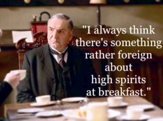 My favorite quote in the history of ever. I couldn't agree more, Mr. Carson...