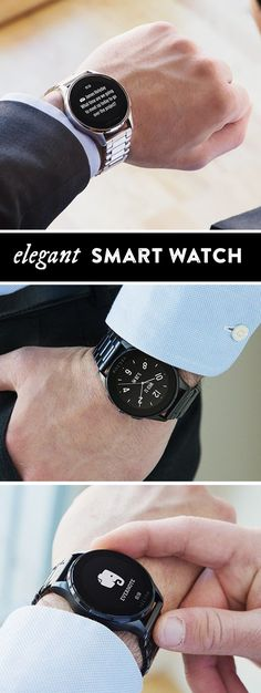 Stay connected—in style. A smartwatch with the refined finishes of a luxury timepiece. Receive messages, news and more.