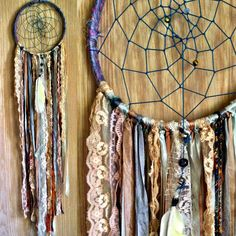Reserved- Bohemian Spirit Vintage Fabric Dreamcatcher. $65.00, via Etsy.