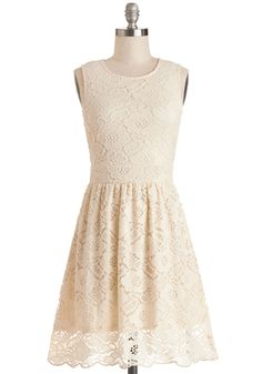 Breakfast in Brussels Dress. #cream #modcloth Needs a skirt extender and a layering top to make it modest!