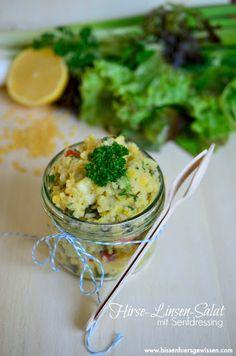 Bissen fürs Gewissen: {Rezept} Hirse-Linsen-Salat mit Senfdressing