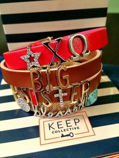 KEEP Collective Sorority Charm Bracelets Keep Jewelry, Cute Jewelry, Keep Collection, Little Sister Gifts, Chi Omega, Personalized Jewelry, Bracelet Making, Product Launch, Charmed