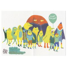 Birthday Parade Card by SCUBA, from little otsu (via @Mallory Puentes mcinnis)