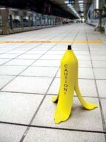 Banana Caution Sign