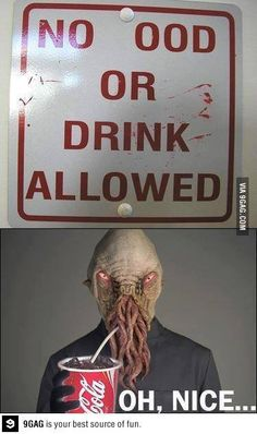 I almost want to do this to a sign just so I can put a picture of an Ood sipping a soda underneath it.....