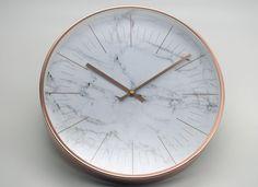 Desrochers / Rose Gold Clock (Marble Clock) Marble