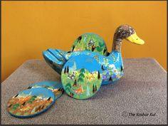 Duck Shaped Coaster Set