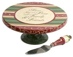 Crimson Manor Family and Friends 12-Inch diameter by 4-Inch High Cake Pedestal Pavilion Gift Company http://www.amazon.com/dp/B004A7XPC4/ref=cm_sw_r_pi_dp_GfmYub0SNJ6GC