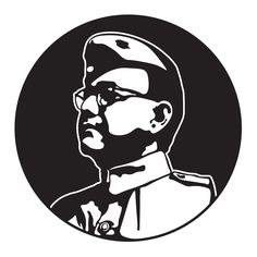 """Subhash Chandra Bose : Another great freedom fighter was Subhash Chandra Bose who was the founder of Indian National Army, more popularly known as """"Azad Hind Fauj"""". Pencil Sketches Of Faces, Pencil Art Drawings, Easy Drawings, Black And White Drawing, Black And White Portraits, Azad Hind, Indian Flag Wallpaper, Indian Police Service, Freedom Fighters Of India"""