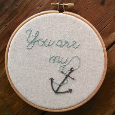 embroidery pattern // you are my anchor  instant by dioramatist, $4.00