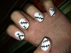 Soul Eater Stein Inspired Nails
