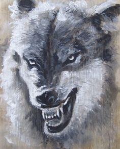 2015.02.6., Wood desk, 38 x 30 cm, acryl, varnish  Bad Wolf