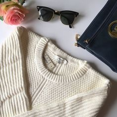 Madewell Hexcomb Texture Sweater The Madewell Hexcomb Texture Sweater is SO cozy you will want to live in it! Seriously you guys, this is the softest sweater ever!! Cream color - definitely a closet staple! Trust me, you NEED this and your closet will thank you!  Crewneck, cotton/viscose/nylon. Brand new with tags!   NO TRADES NO OFF SITE  ✅POSH RULES ONLY ✅FAIR OFFERS  PLEASE USE OFFER BUTTON!  ❓ASK IN THE COMMENTS!   BUNDLE 2+ ITEMS & SAVE!!!!! Madewell Sweaters