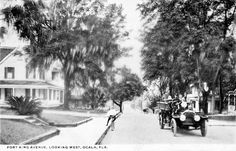 Florida Memory - Looking down Fort King Avenue at a firetruck and cyclist - Ocala, Florida Kings Avenue, Spanish Names, Ocala Florida, Fire Trucks, The Past, Street View, Tours, History, Places