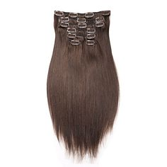 """16""""-22""""+Clip+In+Human+Hair+Extension+7pcs/100g+Straight+Hair+Brazilian+Human+Hair+Extension+–+USD+$+71.00"""