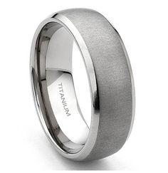 titanium male wedding rings