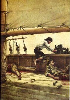Treasure Island by Robert Louis Stevenson, illustrated by Robert Ingpen.