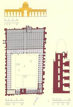 Planta mezquita de Kairouan