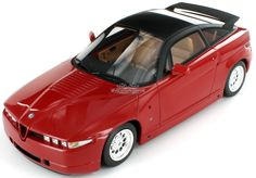 1:18 model of the beautiful 1989 Alfa Romeo SZ (Sprint Zagato).