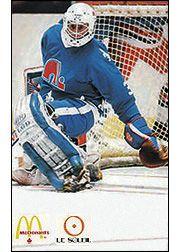Les Nordiques de Québec - Cartes postales McDonald's, saison 1985- Hockey Goalie, Ice Hockey, Hockey Cards, Baseball Cards, Quebec Nordiques, Mcdonald, Sports Art, Nhl, Canada