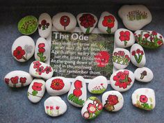Today kotare students painted poppies on to stones. Kids Activities At Home, Creative Activities, Art Activities, Remembrance Day Poems, Remembrance Day Activities, Poppy Craft For Kids, Art For Kids, Crafts For Kids, Anzac Poppy