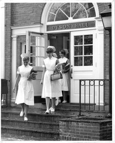 The nursing program has been a constant presence in the Pleasanville campus since the 1960s. Here you can see some of the nursing students after attending some lectures.