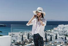 Pas de Calais Top, Stella McCartney Pants,Vince Shoes,Janessa Leone Hat,Cutler and Gross Sunglasses,Cartier Necklace — Egg Canvas