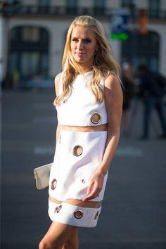 Nicky Hilton in Versace   - HarpersBAZAAR.com