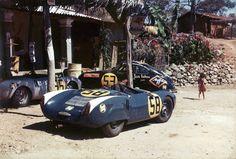 Porsche 550 Spyder en la Carrera Panamericana de 1954.