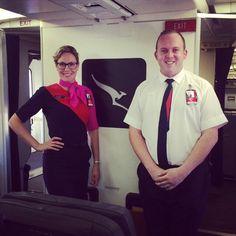 Qantas Crewfie onboard last flight Airline Uniforms, Sensible Shoes, Best Airlines, Cabin Crew, Flight Attendant, Travelling, Commercial, Polo Ralph Lauren, Husband