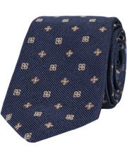 Oscar Jacobson woven tie navy
