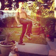 @simondexter is one soccer ball kickin mo fo (Taken with Instagram)
