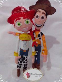 Toy Story em feltro feito por France Nascimento