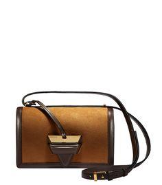 LOEWE | Barcelona Shoulder Bag | Caramel & chocolate | $2,550 | Pre-Order Available Oct 31, 2015