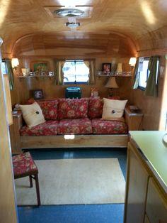 Great interior. Vagabond.  Vintage trailer