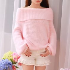 """Thanks for the pretty review @out_yourgaze on instagram Color:pink.white.red. Size:one size. Length:47cm/18.33"""". Bust:110-160cm/42.90""""-62.40"""". Sleeve length:53cm/20.67"""". Fabric material:knitting. Tips"""