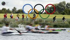 Day 10 - Atheletes compete in the men's kayak single (K1) 1000m heat at the Eton Dorney during the London 2012 Olympic Games. JIM YOUNG/REUTERS