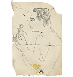 Andy-Warhol-+Boy+Admiring+a+Rose-+primeiros+desenhos,+1956.tif 416×444 ピクセル