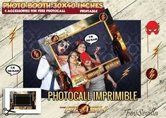 Marco photocall Flash, Marco photocall imprimible Flash, Marco photocall archivo digital Flash, comprar marco de photocall Flash, comprar photocall Flash, comprar marco photocall fiesta Flash, comprar marco photocall cumpleaños Flash, Flash cumpleaños Party Shop, Boy Birthday Parties, For Your Party, The Flash, Party Printables, Photo Booth, Party Supplies, My Design, Etsy