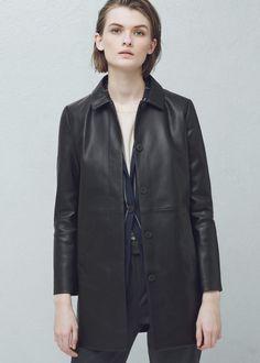 Gerader mantel mit taschen -  Damen | MANGO
