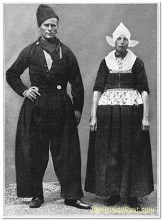 A Man and Woman from Volendam in their Sunday Clothes. 1916.