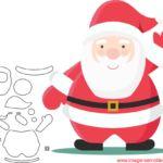 Molde de Natal Para E.V.A. Feltro e Artesanato – 21