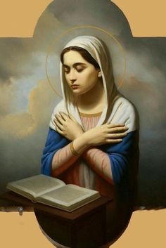 This is incredibly beautiful Catholic Art, Roman Catholic, Religious Art, Blessed Mother Mary, Blessed Virgin Mary, Religiosidad Popular, Hail Holy Queen, Jesus E Maria, Christian Artwork