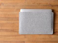 """This sleeve is made for the new 12"""" MacBook (2015). For the minimalists and material purists. Nothing but 100% wool felt and a good fit. This one has the opening on the long side but it is also availa"""
