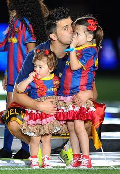 西班牙隊比利亞跟女兒