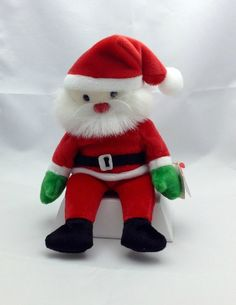 Beanie Baby Vintage Collectible  Santa  Includes by Pastfinds