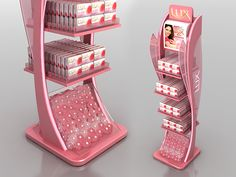 Lux Floor Standing Unit on Behance Pos Design, Rack Design, Shelf Design, Stand Design, Display Design, Design Ideas, Point Of Sale, Point Of Purchase, Rak Display